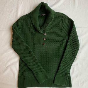 Jeanne Pierre Women's Green Sweater Size M